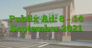 Publix Ad: 8 – 14 September 2021